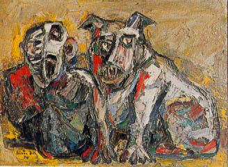 Hombre y perro - Eugenio Estrada